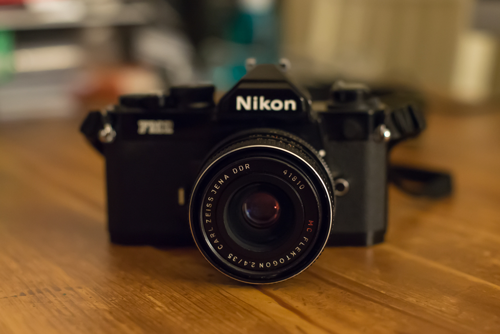 Carl Zeiss Flektogon 35mm f2.4 on my Nikon FM2n …..