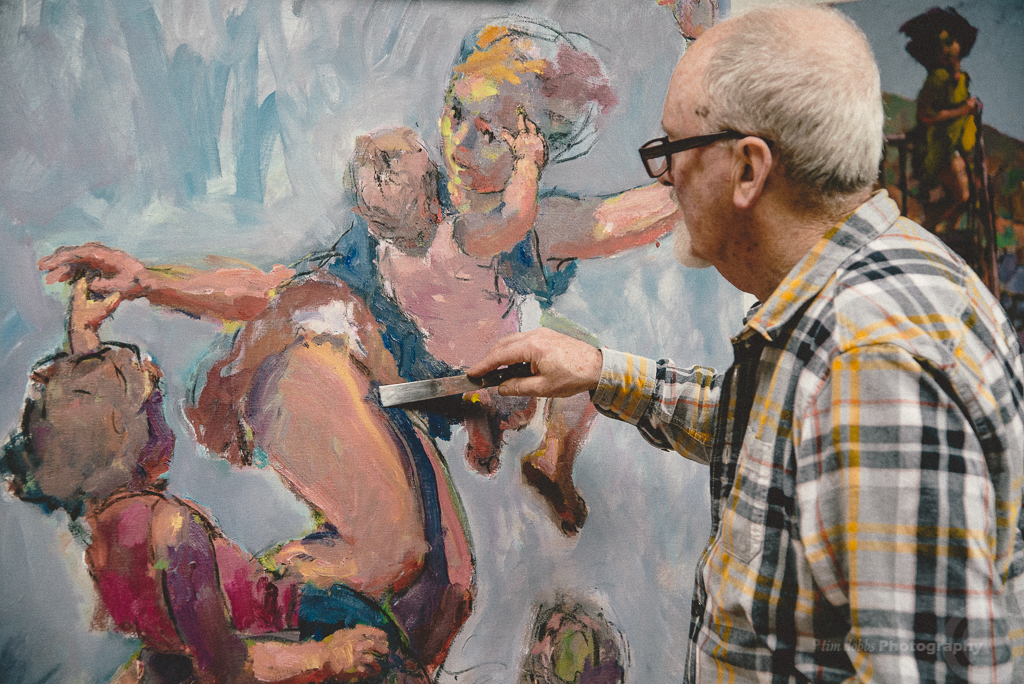 London, New York, Pontycymmer … Artist at work .. Kevin Sinnott